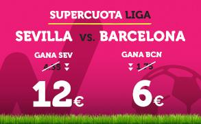 Bonos de Apuestas Supercuota Wanabet la Liga: Sevilla vs Barcelona