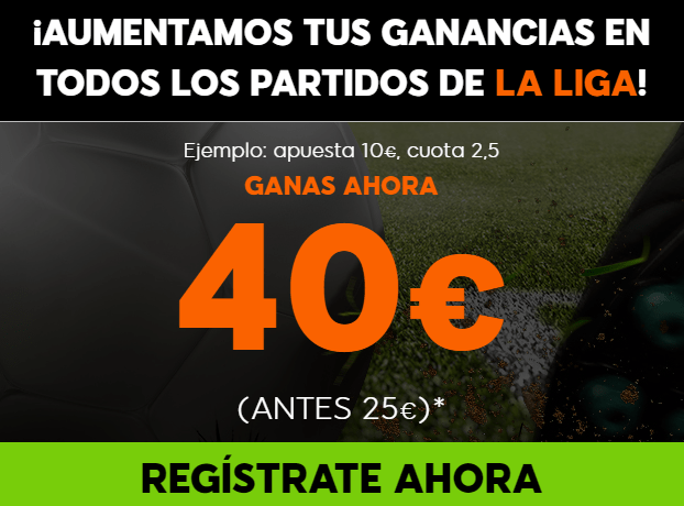 bonos de apuestas Supercuota 888sport la Liga Jornada 35, 100% aumento de Beneficios
