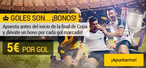 Bonos de apuestas Bwin Copa del Rey Sevilla - Barcelona 5€ por gol