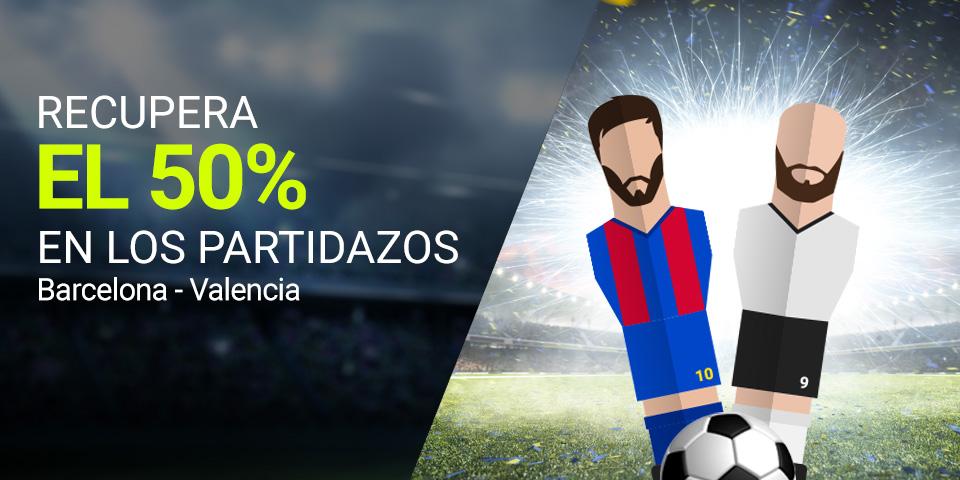 Bonos de apuestas Luckia la Liga Barcelona - Valencia recupera el 50%