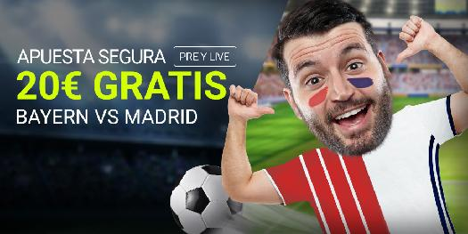 Bonos de Apuestas Luckia Champions League Bayern vs Madrid 20€ gratis
