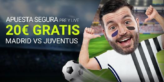Bonos de Apuestas Luckia Champions League: Madrid - Juventus 20€ gratis