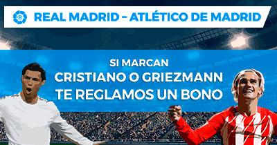 Bonos de Apuestas Paston la Liga Real Madrid - Atlético de Madrid Regalamos bono