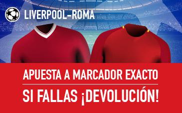 bonos de apuestas sportium Liverpool-Roma: Apuesta a Marcador Exacto y si fallas: ¡Devolución!