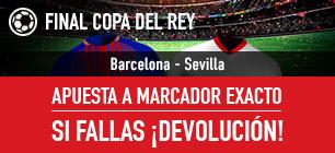 bonos de apuestas Sportium Sevilla-Barcelona: Apuesta a Marcador Exacto y si fallas: ¡Devolución!