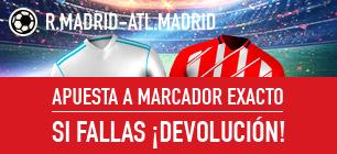 Bonos de apuestas Sportium la Liga Real Madrid - Atl . Madrid Devolución