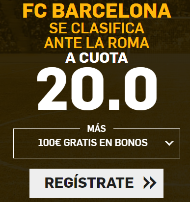 Bonos de apuestas Supercuota Betfair Champions FC Barcelona - Roma