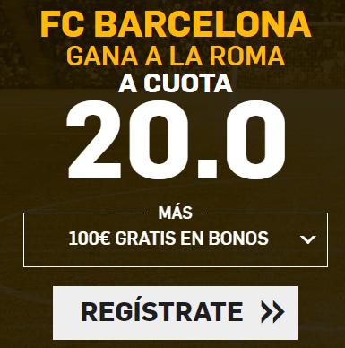 Bonos de Apuestas Supercuota Betfair Champions League FC Barcelona - Roma