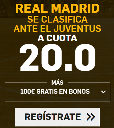 Bonos de Apuestas Supercuota Betfair Champions Real Madrid - Juventus
