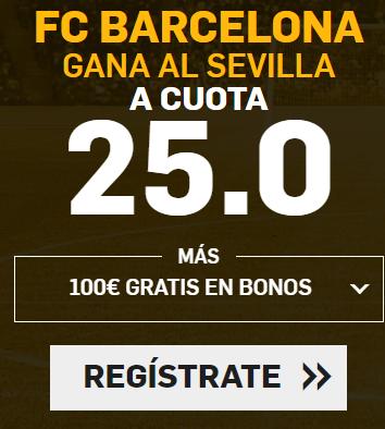 Bonos de apuestas Supercuota Betfair Final de Copa Sevilla vs Barcelona