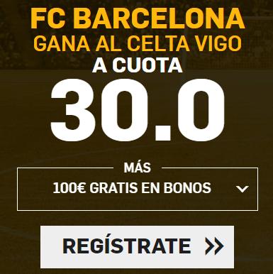 bonos de apuestas Supercuota Betfair la Liga FC Barcelona - Celta Vigo