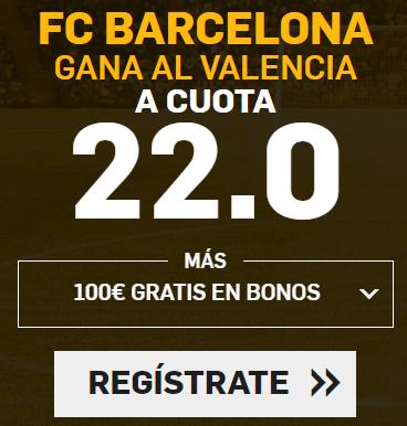Bonos de apuestas Supercuotas Betfair la Liga: FC Barcelona - Valencia