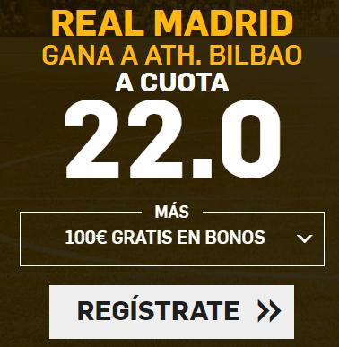 Bonos de apuestas Supercuota Betfair la Liga Real Madrid - Ath Bilbao