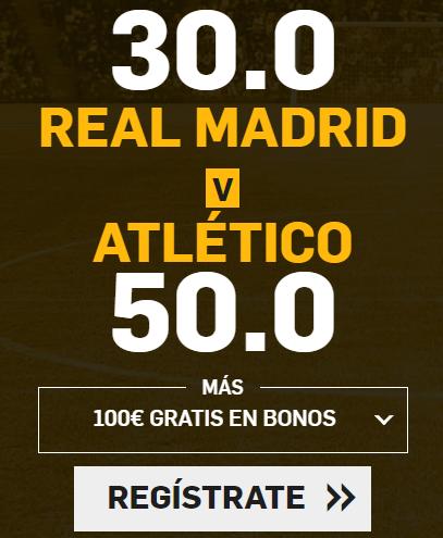 Bonos de Apuestas Supercuota Betfair la Liga Real Madrid - Atletico