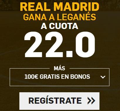bonos de apuestas Supercuota Betfair la Liga Real Madrid - Leganés