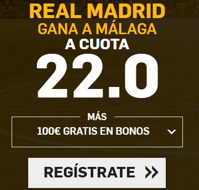 Bonos de apuestas Supercuota Betfair la Liga Real Madrid - Malaga