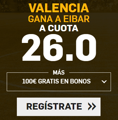 bonos de apuestas Supercuota Betfair la Liga Valencia - Eibar