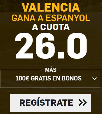 Bonos de Apuestas Supercuota Betfair la Liga Valencia - Espanyol