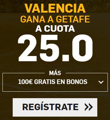 Supercuota Betfair la Liga Valencia - Getafe