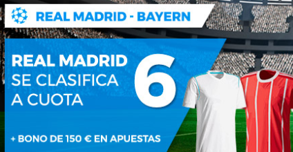 bonos de apuestas Supercuota Paston Champions League Real Madrid - Bayern