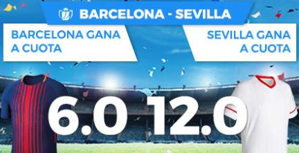 Bonos de apuestas Supercuota Paston Copa del Rey Barcelona - Sevilla