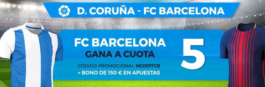 bonos de apuestas Supercuota Paston la Liga D. Coruña - FC Barcelona