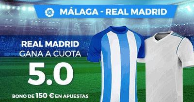 Bonos de apuestas Supercuota Paston la Liga: Malaga - Real Madrid