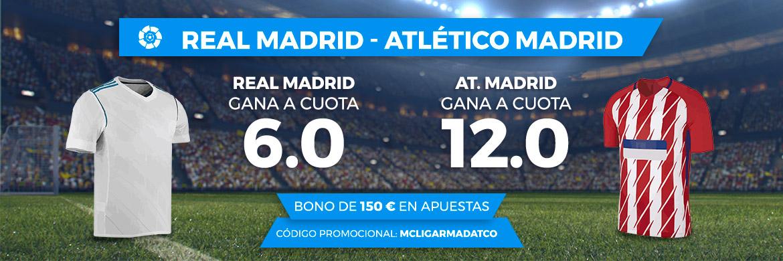 Bonos de Apuestas Supercuota Paston la Liga Real Madrid - Atlético Madrid