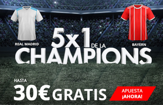 bonos de apuestas Suertia 5x1 Champions 30€ gratis