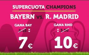 bonos de apuestas Supercuota Wanabet Champions Bayern vs R. Madrid