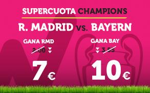 bonos de apuestas Supercuota Wanabet Champions League R. Madrid - Bayern