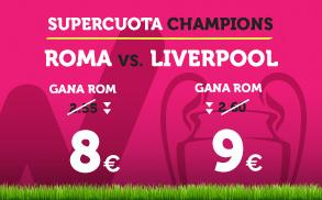 bonos de apuestas Supercuota Wanabet Champions League Roma vs Liverpool