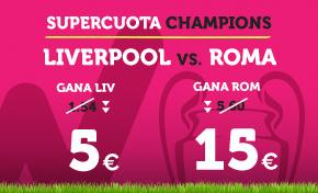 bonos de apuestas Supercuota Wanabet Champions Liverpool vs Roma