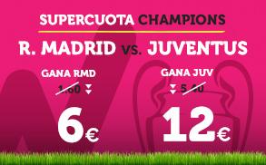 bonos de apuestas Supercuota Wanabet Champions R. Madrid - Juventus