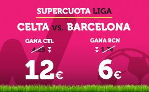 Bonos de apuestas Supercuota Wanabet la Liga Celta vs Barcelona