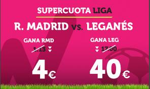 bonos de apuestas Supercuota Wanabet la Liga R. Madrid vs Leganes