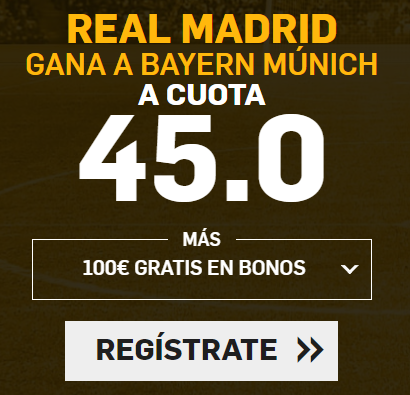 bonos de apuestas Supercuotas Betfair Champions Real Madrid - Bayern Munich
