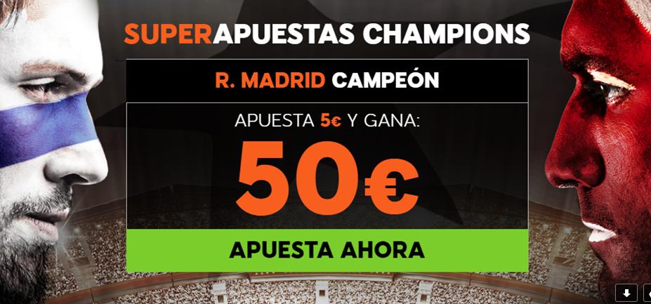 bonos de apuestas 888sport Supercuota Champions R. Madrid Campeón