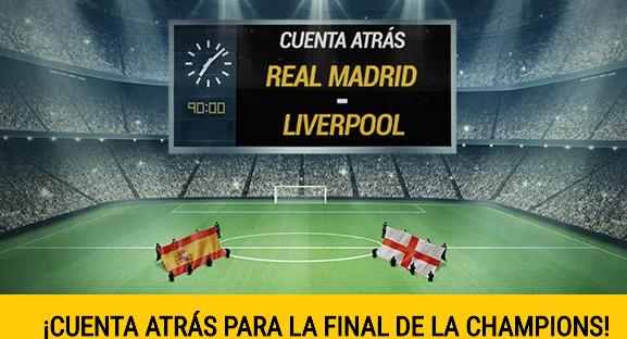 bonos de apuestas Bwin Cuenta Atras Real Madrid - Liverpool Champions