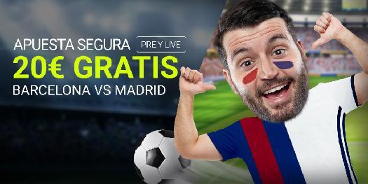 bonos de apuestas Luckia Clásico Barcelona vs Madrid 20€ gratis