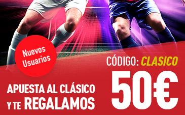 bonos de apuestas Sportium El Clásico 50€ gratis!