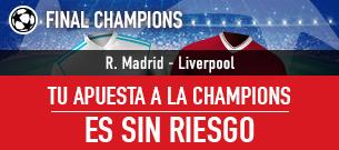 bonos de apuestas Sportium Final Champions Apuesta sin Riesgo