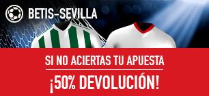 bonos de apuestas Sportium la Liga Betis - Sevilla 50% devolución