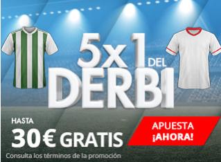 bonos de apuestas apuestas legales Suertia la Liga 5x1 Betis - Sevilla hasta 30€ gratis