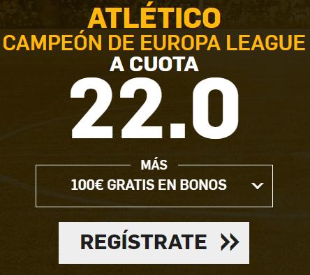 bonos de apuestas Supercuota Betfair Final Europa League Atlético gana a cuota 22.0