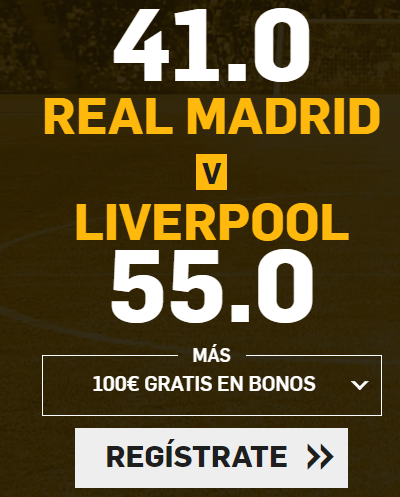 bonos de apuestas Supercuota Betfair Champions League Real Madrid - Liverpool