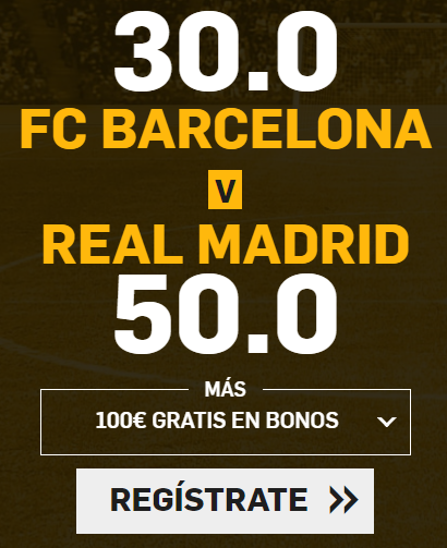 bonos de apuestas Supercuota Betfair el Clasico FC Barcelona vs Real Madrid