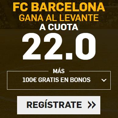 bonos de apuestas Supercuota Betfair la Liga FC Barcelona - Levante