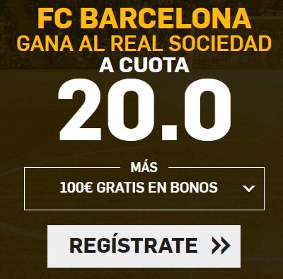 bonos de apuestas Supercuota Betfair la Liga FC Barcelona - Real Sociedad