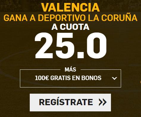 bonos de apuestas Supercuota Betfair la Liga Valencia - Deportivo la Coruña
